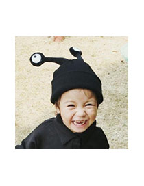 Cute Sapphire Blue Snails Eyes Shape Pure Color Simple Design Hat