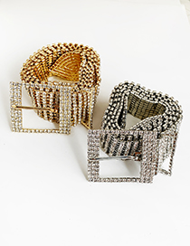 Cinturón Cuadrado De Aleación De Diamantes