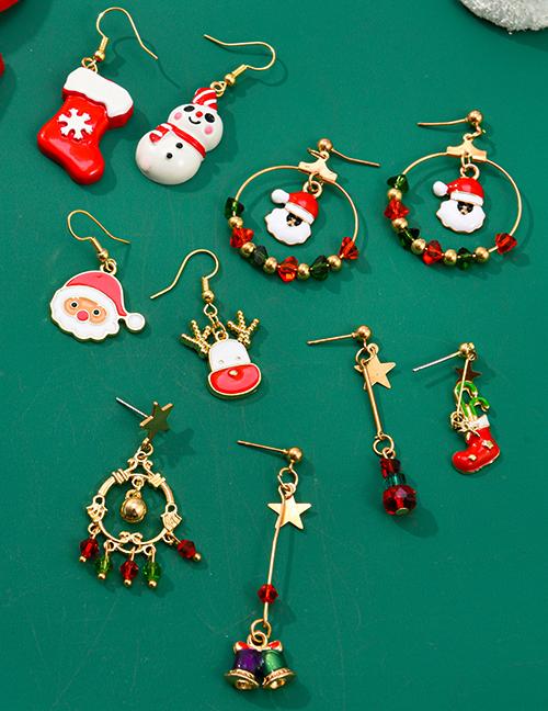 Pendientes Asimétricos De Campana De Árbol De Navidad De Papá Noel
