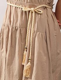 Cintura Tejida De La Cuerda De La Cintura De La Borla De La Tela Tejida