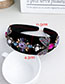 Fashion Color Alloy Diamond Insect Flannel Hair Band