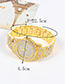 Fashion Gold Color Diamond Decorated Round Dial Design Watch