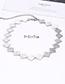 Elegant Silver Color Square Shape Design Pure Color Choker