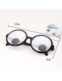 Fashion Black+white Grids Pattern Decorated Glasses