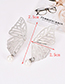 Fashion Silver Color Hollow Out Butterfly Decorated Earrings