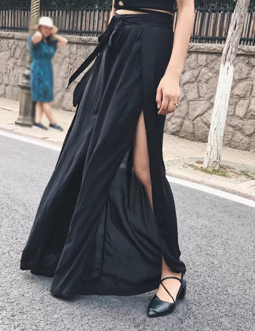 Pantalones De Moda Decorados Con Lados Abiertos :www ...