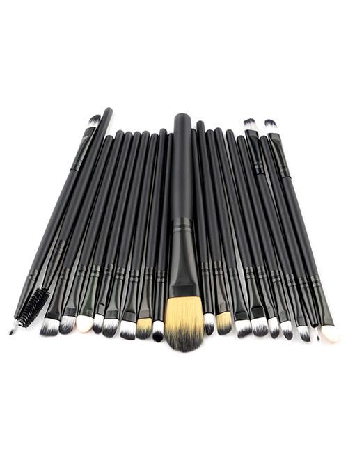Fashion Black Pure Color Decorated Makeup Brush ( 20 Pcs )