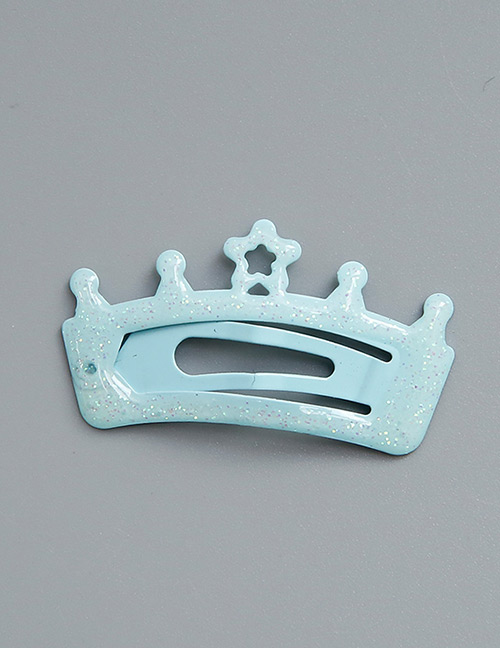 Lovely Blue Crown Shape Decorated Hairpin