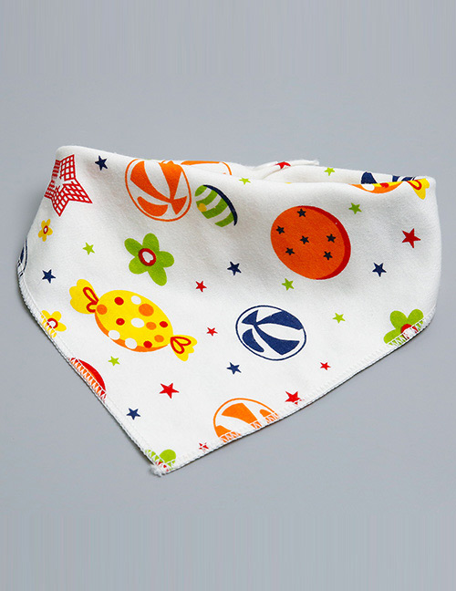 Lovely Multi-color Candy Shape Decorated Bib