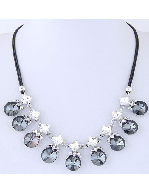 Fashion Gray Round Shape Decorated Necklace