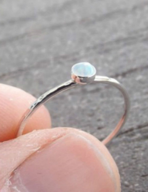 Fashion Silver Color Round Shape Diamond Decorated Ring