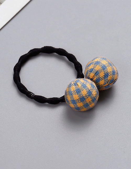 Fashion Orange Grid Pattern Decorated Hair Band