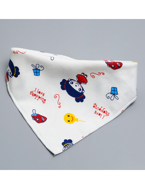 Fashion Multi-color Gril Pattern Decorated Baby Bib (1 Pc)