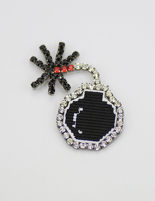 Fashion Black Landmine Shape Decorated Brooch