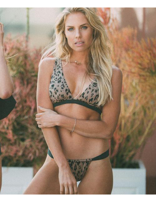 Sexy Brown Leopard Pattern Decorated Bikini