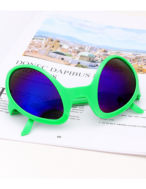 Fashion Green Irregular Shape Decorated Glasses