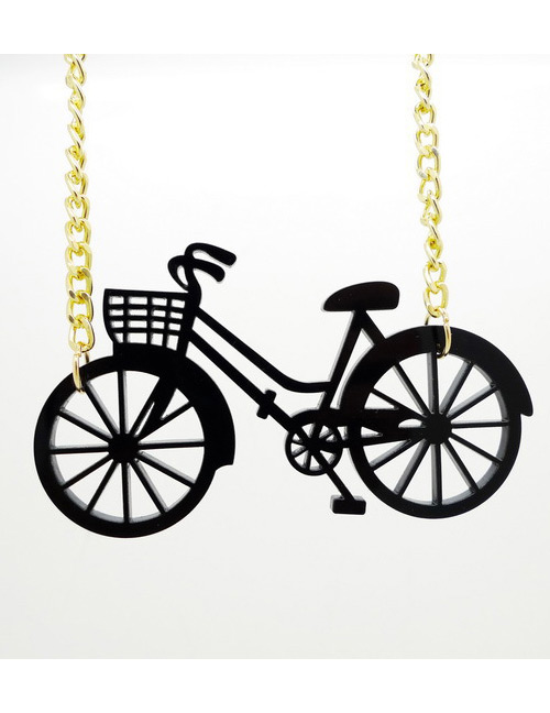 Fashion Black Bicycle Shape Decorated Necklace