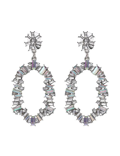 Fashion Multi-color Diamond Decorated Earrings