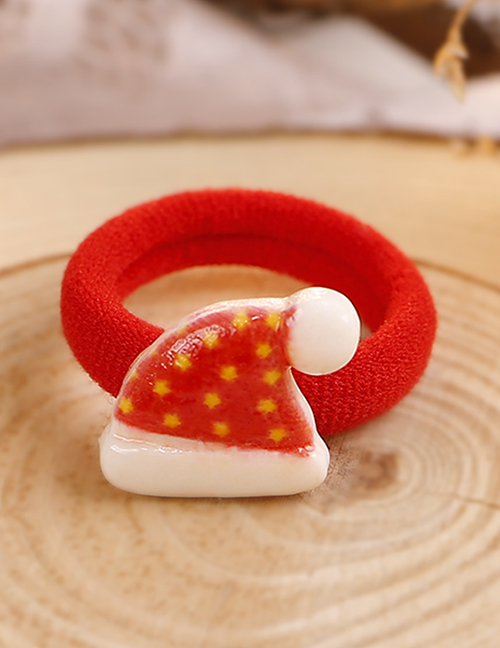 Lovely Red Christmas Hat Decorated Hair Band(1pc)