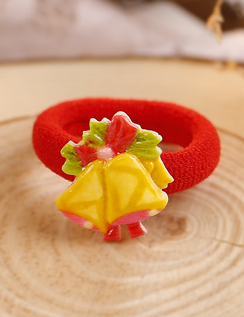 Lovely Red+yellow Christmas Bell Decorated Hair Band(1pc)