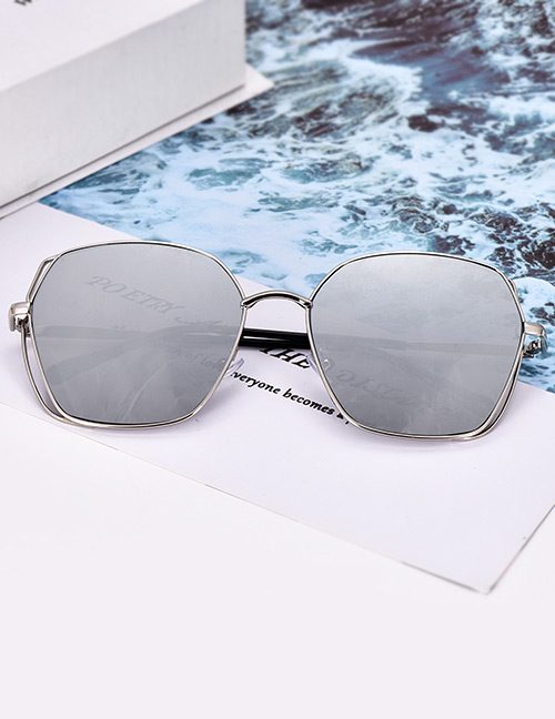 Fashion Silver Color Geometric Shape Decorated Glasses