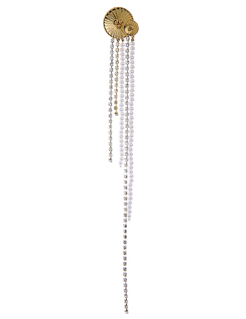 Fashion Gold Long Fringed Diamond Brooch