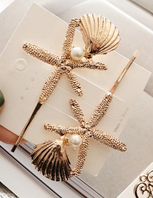 Fashion Starfish Alloy Geometry Hair Clip