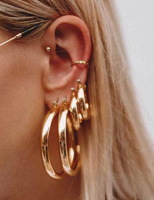Fashion Rose Gold Big Circle Earrings