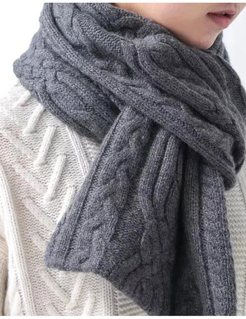 Fashion Grey Reversible Cashmere Scarf