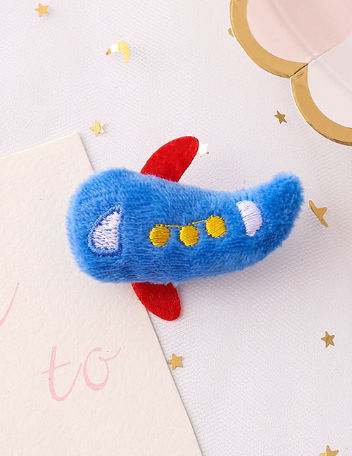 Fashion Small Plane Small Airplane Plush Embroidery Brooch