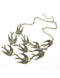 Mobile Bronze Swallow Pendant