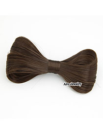 Plain Brown Bow Hair Wigs