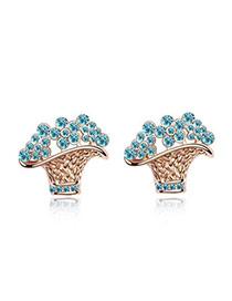 Peridot White Earrings Alloy Crystal Earrings