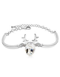 Wonderful White Santa'S Reindeer Style Austrian Crystal Crystal Bracelets