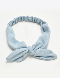 Fashion Light Blue Rabbit Ears Shape Decorated Hair Band
