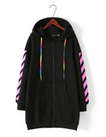 Suéter Largo Con Cremallera De Moda