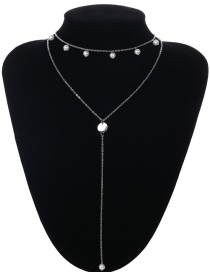 Collar De Doble Capa Decorado Con Perlas