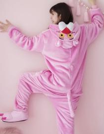Pijama De Leopardo Rosa De Moda