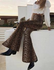 Pantalones Con Pata Elefante De Leopardo