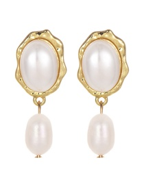 Aretes De Perlas De Moda