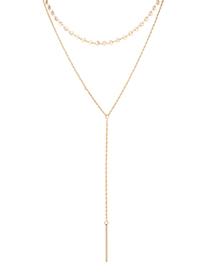 Collar De Oro Plateado - Charm