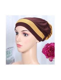 Paño Elástico Bicolor Con Sombrero De Diadema De Flores