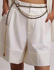 Cadena De Cintura De Flor De Perla