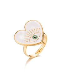 Anillo Abierto De Dripping Eye Love