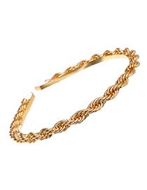 Fashion Golden Alloy Chain Headband
