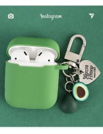 Avocado Love Sunflower Seeds Funda De Silicona Para Auriculares Inalámbricos Bluetooth