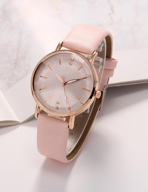 Fashion Pink Small Dial Belt Quartz Ladies Quartz Ladies Watch