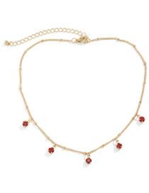 Collar De Cadena Con Borlas De Diamantes De Imitación De Metal