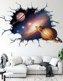 3d Pegatinas De Pared Pared Rota Vía Láctea Cielo Estrellado Planeta Dormitorio De Niños