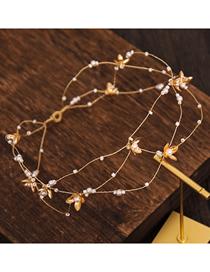 Diadema Con Placa De Flor De Perla